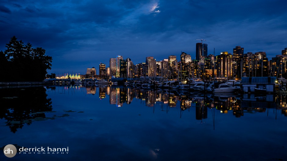 Vancouver Skyline and Yacht club